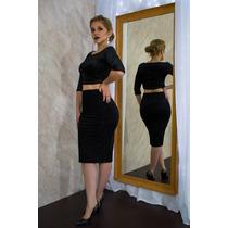 Conjunto De Falda Y Blusa Para Mujer En Negro