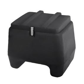Baú Motoboy Plástico Injetado Pro Tork - Preto - 80 Litros