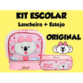 Kit Escolar Lilica Ripilica Lancheira E Estojo 2017
