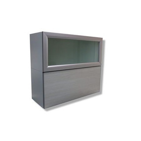 Alacena Para Cocina Dos Puertas Elevables Perfil De Aluminio