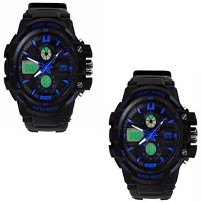 Kit Com 2 Relógios Masculinos Skmei Anadigi 0990 Promoção