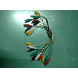 10 Pinzas De Cocodrilo Con Cable A 10 Cocodrilos Colores