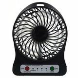 Ventilador Con Bateria Recargable Usb 3 Velocidades Linterna