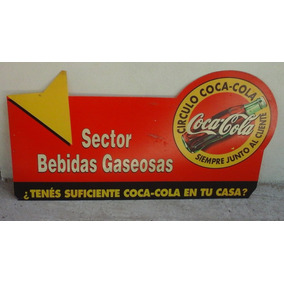 Cartel De Publicidad De Coca Cola Plastico 84 X 44 Cm. Aprox