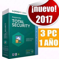 Kaspersky Total Security 2017 3 Equipos 1 Año + Regalo Promo