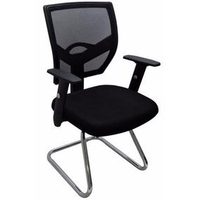 Cadeira Diretor Escritório New Ergon Base Fixa - Preta