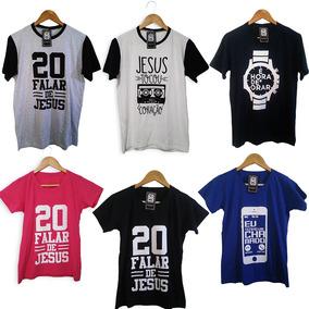 Kit Com 10 Camisetas Gospel Evangélicas Atacado Frete Grátis
