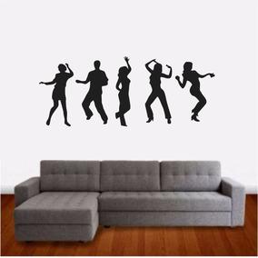 Adesivo Parede Academia Zumba Dança Bailarinos Exercício