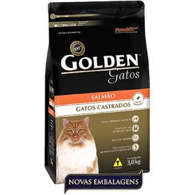 Ração Golden Gato Adulto Castrado - Salmão - 10,1kg