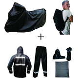 Combo Impermeable Moto X3 Pijama + Traje + Forro Maleta