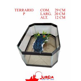 Aquario Terrario Bacia Quadrada Para Tartaruga Tam. P