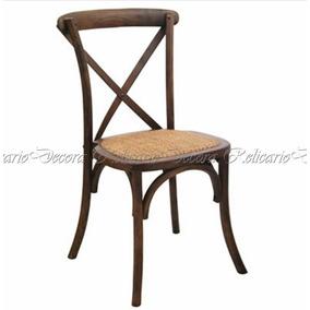 Cadeira Madeira Maciça Estilo Rustica Marrom Lindo Design