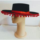 Sombrero De Bailador Flamenco Español Disfraces Primavera