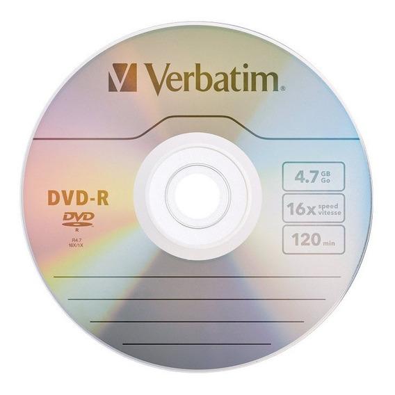 Dvd Verbatim -r Bulk X100 Unidades Estampado Original