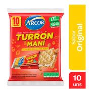Turron Oblea Arcor Mani 10 Un X 25 Gr
