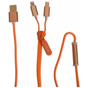 Cable Noganet Usb Z 09 Zipper / Orange