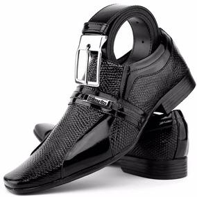 Sapato Verniz Social Lançamento Kit Exclusivo Dhl Calçados