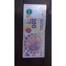 Billete De $100 Serie A Número 00704100