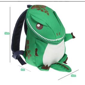 Mochila Dinosaurio Verde Niño Back Pack Lonchera