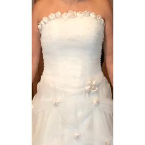 Vestido De Novia Nuevo De Tul, Talla 6