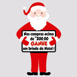 Adesivo De Vitrine Papai Noel Para Campanhas Em Lojas