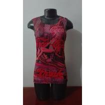 Blusa Gypsy Pink Coca Cola Para Mujer Talla M