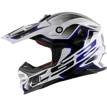 Capacete Ls2 Mx456 Compass Azul Motocross / Offroad / Trilha
