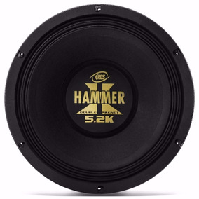 Woofer 12 Eros Hammer 5.2k 2600 Watts Rms Black 4 Ohms