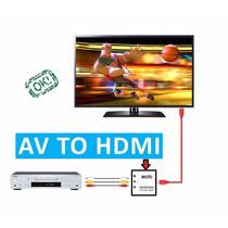 Adaptador Convertidor Señal Rca - Hdmi 1080p 720p Tv