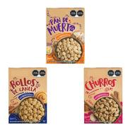 Cereal Kellogs Pan De Muerto, Churros, Rollos Pack 3 Sabores