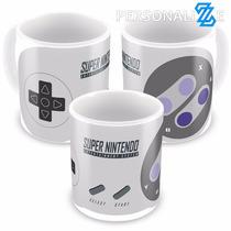 Caneca Porcelana Controle Super Nintendo Snes Video Game