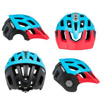Casco Lazer Revolution Azul Rojo Mate T.medium Enduro Nuevo