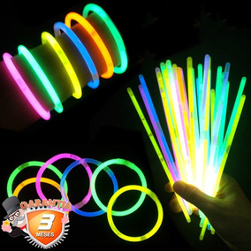 Pack 100 Pulseras Led Fluorescentes Luminosas / Disparocl