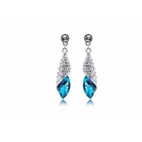 431bc6c036d0f Brincos Cristal Azul Swarovski Com Garantia - Joias e Relógios no ...