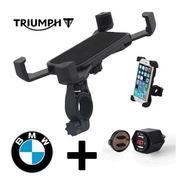 Soporte De Moto Para Celular + Toma Usb Hella Bmw Usb 2,1amp