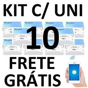Kit 10 Unidades Sonoff Interruptor / Tomada Inteligente Wifi