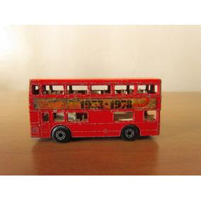 Ônibus Dois Andares Ferro Machtbox 1972 Lesney Prod Antigo