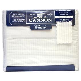 Juego De Sábanas Cannon Classic Blancas Full