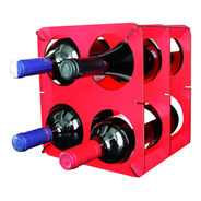 Bodega Para Cuatro Botellas Vino Roja
