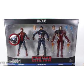 Kit Marvel Legends Capitão America Guerra Civil Frete Grátis