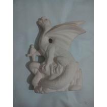 Dragón De Yeso Ceramico Blanco Para Pintar