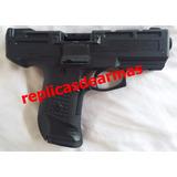 Pistola Ametralladora De Fogueo Por Cañon Cal 9 Mm