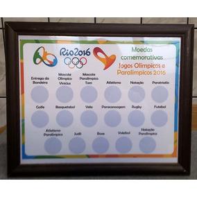 Quadro Para Moedas Comemorativas Rio2016 Jogos Olímpicos E P