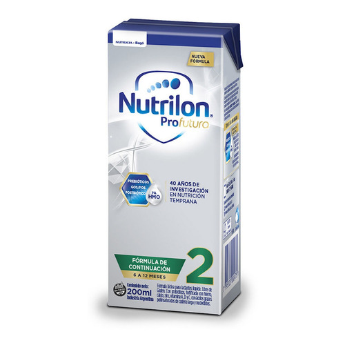 Leche de fórmula líquida Nutricia Bagó Nutrilon Profutura 2 brick 200mL