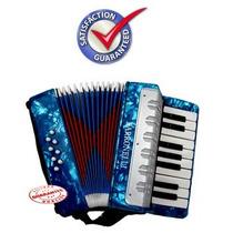 Los Niños De Acordeón Piano 17 Teclas 8 Bajo Azul Perloid G