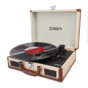 Tornamesa Ion Audio Vinyl Maletin Portátil Altavoces Usb