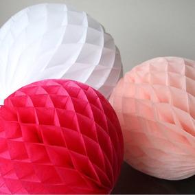 10 Lamparas De Papel Diseño Especial Panal : Bodas, Xv Años