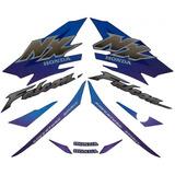 Jogo De Adesivos / Faixas Nx 400 Falcon 2000 Azul