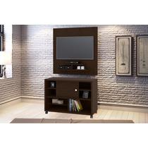 Conjunto Painel Tv 5019 Com Rack 5030 Cor Imbuia