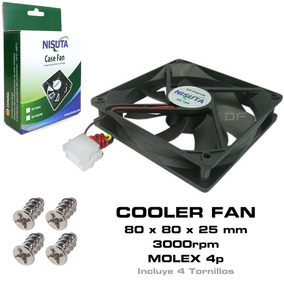 Cooler Fan Ventilador 8x8 80mm 3000rpm Gabinete Atx Molex